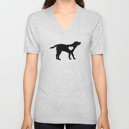 Labrador Love Gift T-Shirt I Pet Dog Owner Heart  Unisex V-Neck