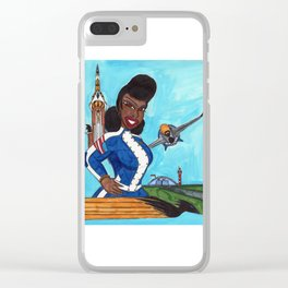 The Aviatrix of Avalon City Clear iPhone Case