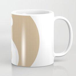 Yin & Yang (Tan & White) Coffee Mug
