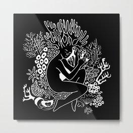 Resting Coral Metal Print