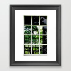 Square Windows Framed Art Print