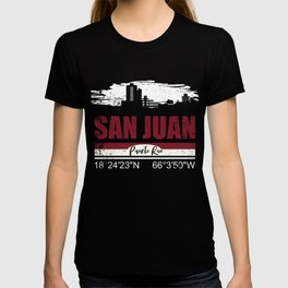 San Juan Puerto Rico City Vintage Distressed T-shirt