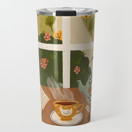 Tea Time by the Window Travel Mug