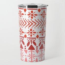 Norwegian Pattern – Reds & Corals Travel Mug