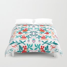 PippiRabbit in Succulents Garden Repeated Pattern Duvet Cover