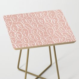 faces / pink Side Table