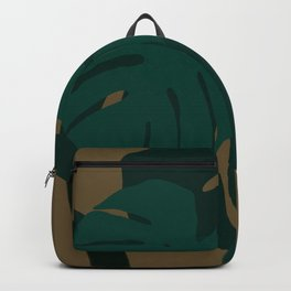 Palm Leaves Retro Style Backpack