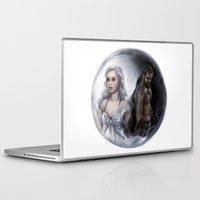 ying yang Laptop & iPad Skins featuring Ying Yang by daekazu