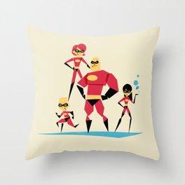 Incredi-family Throw Pillow