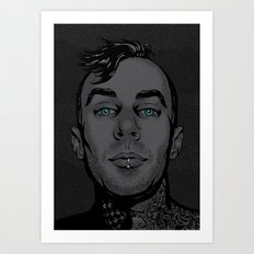 Travis Barker Art Print