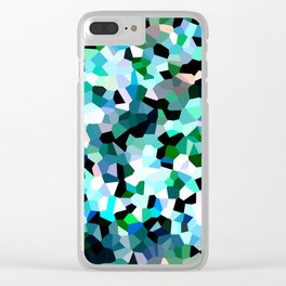 Turquoise Dream Clear iPhone Case