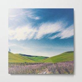 Spring Green Hillsides Metal Print