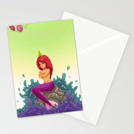 Oups la sirène  Stationery Cards