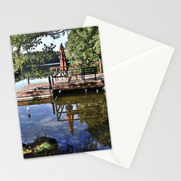 September sky is kissing pond surface Stationery Cards