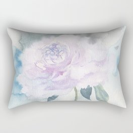 White Peony Rectangular Pillow