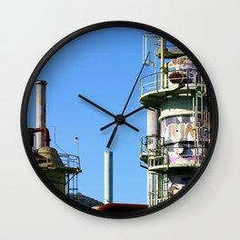 Oil Refinery Wall Clock