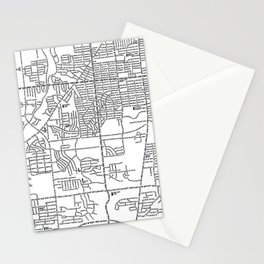 Parma Ohio Map Stationery Cards