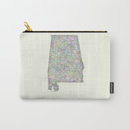 Alabama map Carry-All Pouch