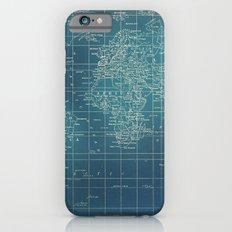 Grunge World Map Slim Case iPhone 6s