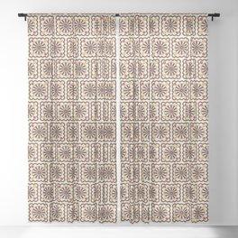 Tiled wheels pattern Sheer Curtain
