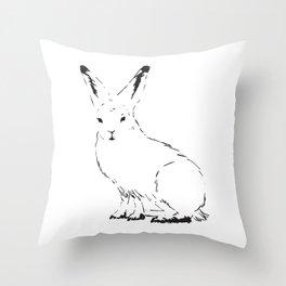Snow Rabbit Throw Pillow