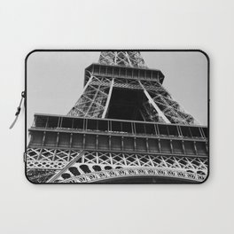 Eiffel Tower // Looking up at the World's Most Famous Monument in Paris France Classic Photograph Laptop Sleeve