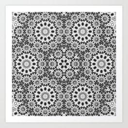 Magical black and white mandala 010 Art Print