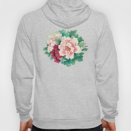 Light pink and purple peonies Hoody