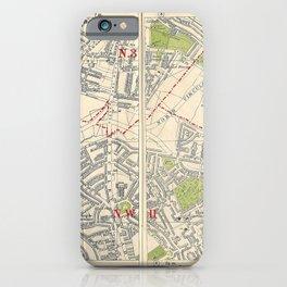 Bacon's Pocket Atlas of London (1921) - 02 Finchley, Church End, Hampstead Garden iPhone Case