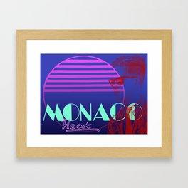 Vettel Vice: Monaco Heat Framed Art Print