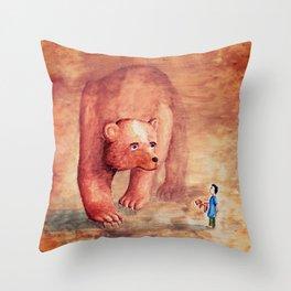 Teddy Bear's Family Throw Pillow