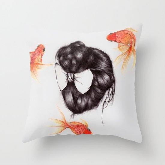 Hair Sequel II Throw Pillow