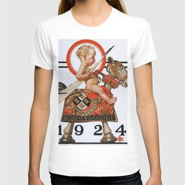 12,000pixel-500dpi - Joseph Christian Leyendecker - New Year Baby 1924 - Digital Remastered Edition T-shirt