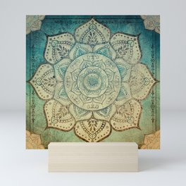 Faded Bohemian Mandala Mini Art Print