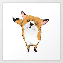 Cuty Fox Art Print