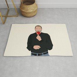 Steve Jobs Eating a Candy Apple Rug