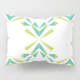 Green Lattice, green leaves Pillow Sham