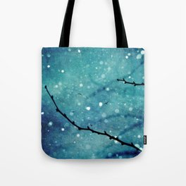 Winter Snow Branches  Tote Bag