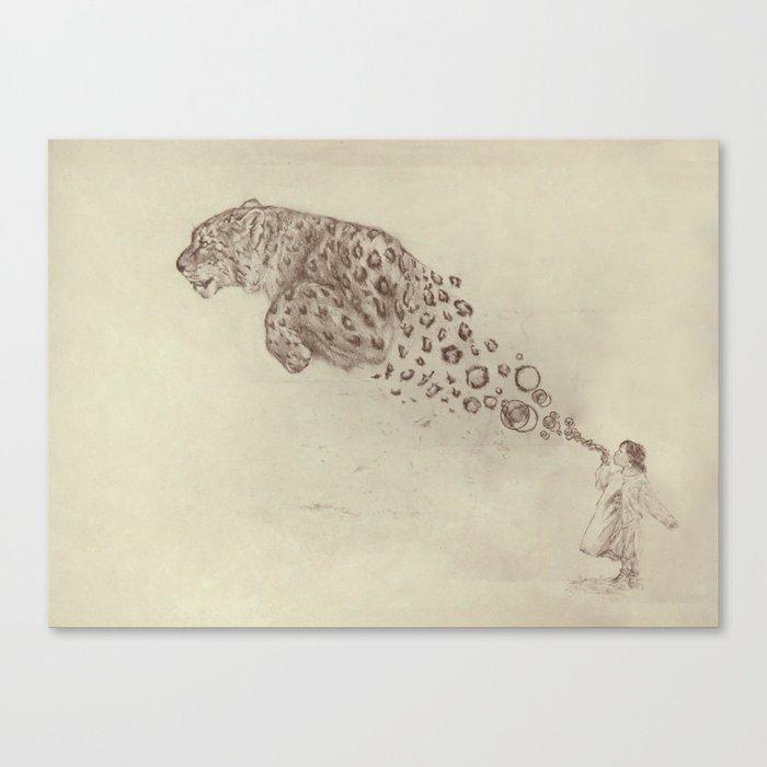 Bubbles the Snow Leopard Canvas Print