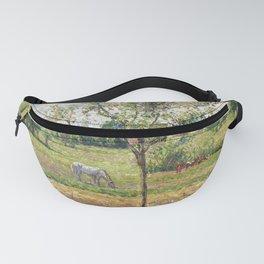 "Camille Pissarro ""Le pré avec cheval gris, Eragny""(""The meadow with gray horse, Eragny"") Fanny Pack"