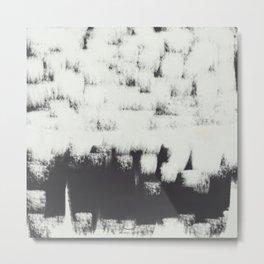 White wall strokes  Metal Print