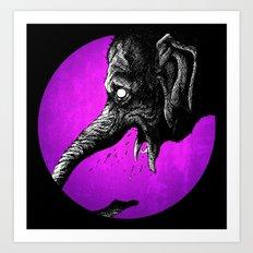 Crazy Elephant Art Print