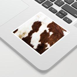 Cowhide Brown Spots Sticker