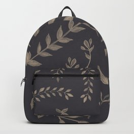 Light Sepia Leaves Pattern #1 #drawing #decor #art #society6 Backpack