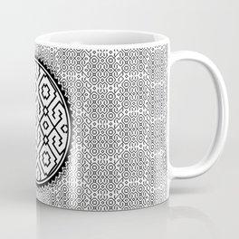 Amazonian Shipibo Pattern black & white Coffee Mug