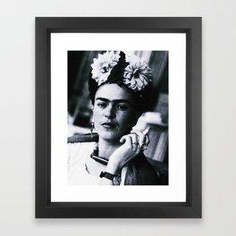 Frida Kahlo Smoke Framed Art Print