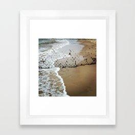 Beach Barrier Framed Art Print
