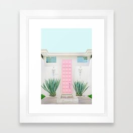 The Pink Door, Palm Springs, California Framed Art Print