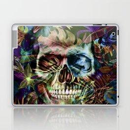 leaves skull i Laptop & iPad Skin