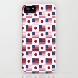 Mix of flag : USA and Japan iPhone Case